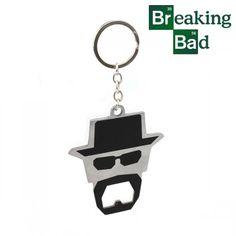 Objet Breaking Bad : décapsuleur métal à l'effigie d'Heisenberg sur Logeekdesign.com