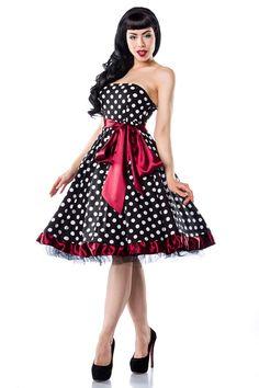 Rockabilly-Kleid schwarz-weiss-rot