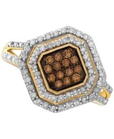 Wrapped in Love White and Brown Diamond Ring in 14k Gold (1/2 ct. t.w.) - Yellow Gold