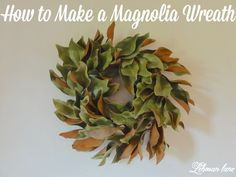 I made a magnolia wreath with magnolia leaves from my yard in less than 1 hour! Come check out how to make one of your own using dried or fresh magnolia leaves!