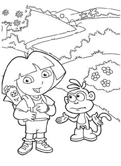 dora and boots would travel coloring pages dora the explorer coloring pages kidsdrawing - Dora The Explorer Free Coloring Pages 2