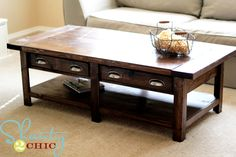 Benchright Coffee Table--    This site shows how to build TONS & TONS of stuff WITH complete plans!!