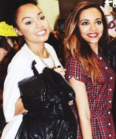 Leigh Anne looking a little more natural, and Jade looking a little more done up in Japan!