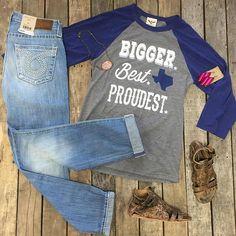 """#NEWARRIVALS  #BiggerBestProudest #Tee $42.99 S-L #BigStar #Sydney #Boyfriend $119.00 26 #BedStu #Claire #Sandals $116.99 6, 6.5, 7, 8.5, 9, 11 #PinkPanache #Necklace $44.99 #Serape #Earrings $9.99 We #ship! Call us to order! 903.322.4316 #SHOPDCS #shopdavis #shoplocal #instashop #instafashion #love"" Photo taken by @daviscountrystore on Instagram, pinned via the InstaPin iOS App! http://www.instapinapp.com (08/21/2015)"