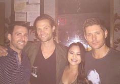 Jared and Jensen with fans last night in Austin