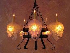 Skulls: #Skull chandelier.
