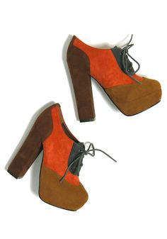 these are the 'sarsaparilla heel.' not sure which i love more--the color combo or the name!