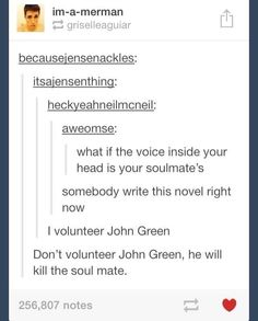 If this is true, my soulmate is literally a walking pun