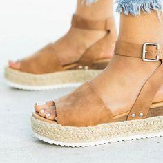 Costbuys Wedges Shoes Platform Sandals High-Heels Plus-Size Women Flip Flop Summer Chaussuresladiator Sandals Heels Womens Shoes Wedges, Womens High Heels, Gladiator Sandals, Leather Sandals, Women's Espadrilles, Womens Flip Flops, Summer Shoes, Sneakers Fashion, Sneakers Style