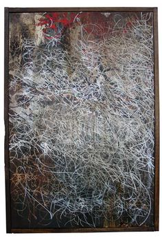 Jose Parla - Family Tree (2007) Mixed media on canvas (Right)