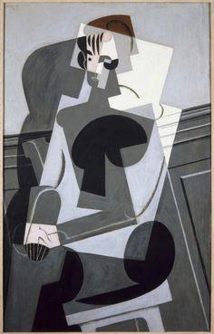 Gris, Juan (José Victoriano González Pérez): Portrait de Madame Josette Gris (Retrato de Madame Josette Gris) A la vez que el punto de partida de su cubismo sintético, el año 1916 es también el del inicio por parte de Juan Gris, como más tarde lo sería para Picasso, de una concienzuda revisión de la obra de algunos maestros del pasado, fundamentalmente Paul Cézanne, Corot o Velázquez.