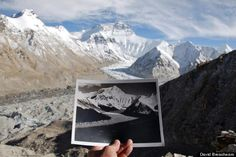 Everest now and then - 1921 v 2007. Awesome Gigapixel image of Everest and the Rongbuk Glacier on the site