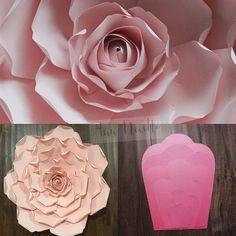 Jolie flower  #paperflower #paperflowers #paperflowerbackdrop #paperroses #paperflowerwall #templates