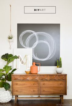 Renter Alert!! Easy & Impactful DIY Art (that you can't screw up!)