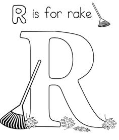 R For Rake Coloring Pages