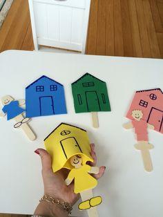 Separando os bonequinhos por cor