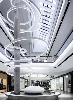 Das GERBER Shopping Mall by Ippolito Fleitz Group, Stuttgart – Germany. Amazing spaces can also be found on City Lighting Products Houzz page!  http://www.houzz.com/pro/citylightingstl/city-lighting-products