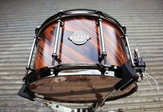 Wow! This Evetts Drums monster snare from @evettsdrums is a 14x8 14 ply spotted gum shell with a twisted Bolivian rosewood veneer and satin finish. Beautiful! #DrumSmart #evettsdrums #customdrums #snare #snaredrum #customsnare #drummer #drummerlife...