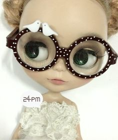 LOVE BIRD Glasses For Blythe by 24PM on Etsy, ฿447.28