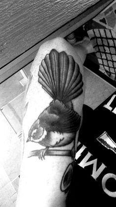 New Zealand Fantail tattoo