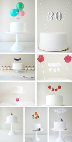 ideas para fiestas adultos como decorar un pastel para adultos Whimsical toppers