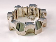 Antonio Pineda | Bracelet, sterling silver, Mexico.