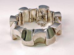 Bracelet | Antonio Pineda.  Sterling silver.  Vintage, Mexcio.