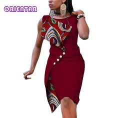 online shopping for pujingge Womens Sleeveless Sexy Irregular Oversize Slim African Pencil from top store. See new offer for pujingge Womens Sleeveless Sexy Irregular Oversize Slim African Pencil African Fashion Ankara, Latest African Fashion Dresses, African Print Fashion, Africa Fashion, Women's Fashion Dresses, Short African Dresses, African Print Dresses, Short Dresses, African Dress Designs