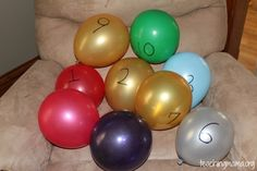 Number ballon & find them in order