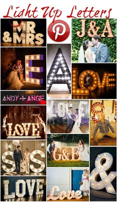 Boho Pins: Light Up letters