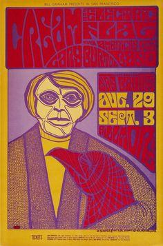 Cream/Electric Flag/Gary Burton/Dan Bruhns' Fillmore Lights, August 29, 1967 - Sep 3, 1967, Fillmore Auditorium (San Francisco, CA). Art by Jim Blashfield