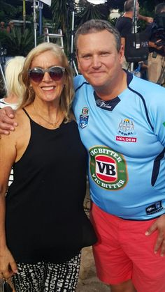 """Here I am with Tim Gilbert from The """"Today Show"""" when they came to Airlie Beach."""