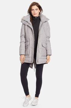 477e249a333 Lauren Ralph Lauren Faux Fur Trim Tweed Print Anorak with Down   Feather  Fill (Online Only)