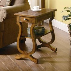 "Wildon Home ® Gile Chairside End Table  Overall: 24"" H x 24"" W x 12"" D Overall Product Weight: 21.45lbs  $110.00"