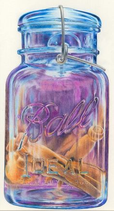 Clothes pins in ball jar