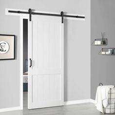 Ove Decors Barn Door With Hardware Kit Smooth Soft Close 1000 In 2020 Sliding Doors Interior Barn Doors Sliding Doors Interior