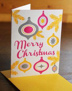 Merry Christmas Letterpress Card by Wishbone Letterpress