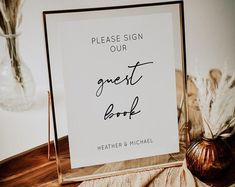 A modern wedding guestbook sign that you can edit as well. Just purchase and edit in seconds. This is an 8x10 sign. Guest Book Sign, Wedding Guest Book, Wedding Table, Table Signs, Guestbook, Wedding Stationary, Etsy Seller, Creative, Modern