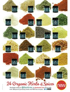 24 Organic Herbs & Spices