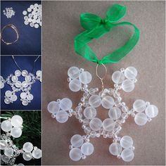 The Perfect DIY Beaded Snow Ornaments