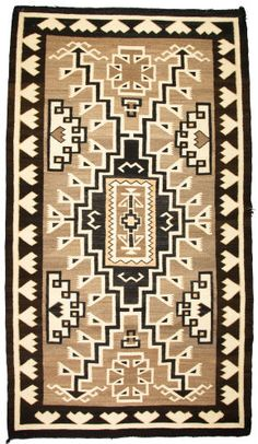 Navajo Regional Rug / Two Gray Hills / c. This adds much needed age and patina to Kate's contemporary style. Native American Rugs, American Indian Art, American Indians, Navajo Art, Navajo Rugs, Southwestern Quilts, Southwest Art, Native Indian, Native Art
