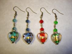 DIY Gold Foil Glass Heart Earring Kits by Zilchbeads