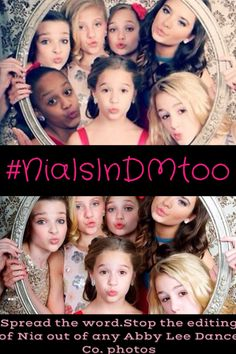 #NiaIsInDMtoo. Some of you guys have seen my earlier post about this topic. I just want to continue spreading so people stop all editing of any girls out because of their skin tone, their abilities (or lack there of), their lifestyle, just anything that discriminates these prefect, precious girls. It is ridiculous for people to edit Nia out of her own pictures. If you don't want Nia then maybe you should find a new fandom, because here, the LOVE all the girls. No matter what.