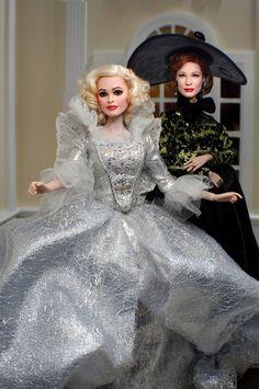 Helena Bonham Carter and Cate Blanchett Disney Barbie Dolls, Barbie I, Ooak Dolls, Art Dolls, Disney Treasures, Still Love Her, Helena Bonham Carter, Fairy Godmother, Cate Blanchett