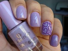 Purple heart nails.