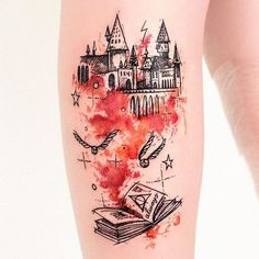 Tatuagem de Harry Potter (Foto: Reprodução/Pinterest/Cheyenne Boveigton)