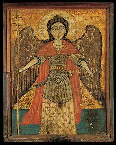 "signorcasaubon: ""Saint Michael the Archangel; Benaki Museum of Greek Civilization "" Byzantine Icons, Byzantine Art, Religious Icons, Religious Art, Benaki Museum, Mexican Paintings, Google Art Project, Russian Icons, Religious Paintings"