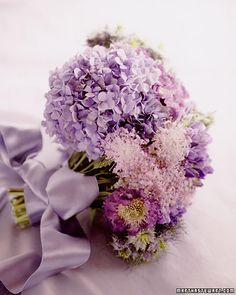 Purple and Lavender Hydrangea Bouquet