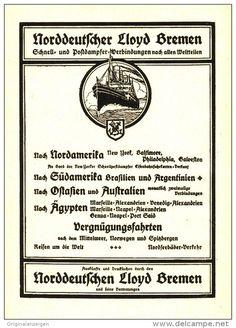 Original-Werbung/Inserat/ Anzeige 1913 - ALLE WELTTEILE /  NORDDEUTSCHER LLOYD BREMEN -  ca.160 x 120 mm