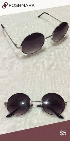 Black Circle Sunglasses Used once, does not look good with the shape of my face. Great condition! Wet Seal Accessories Sunglasses